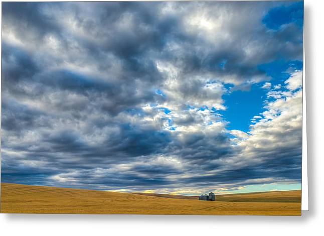 Silo Under Big Palouse Sky Greeting Card