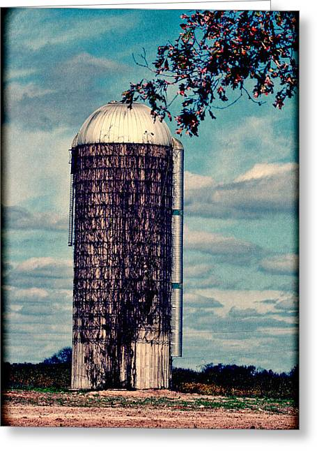 Silo -vine Covered - Hdr  Greeting Card