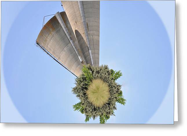 Silos Wee Planet Greeting Card