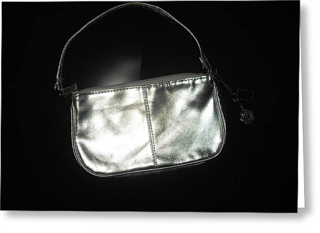 Silver Bag With Rose Locket Greeting Card by Robert Cunningham