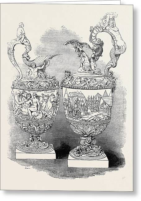 Silver Ewers, Wits Salvers Greeting Card