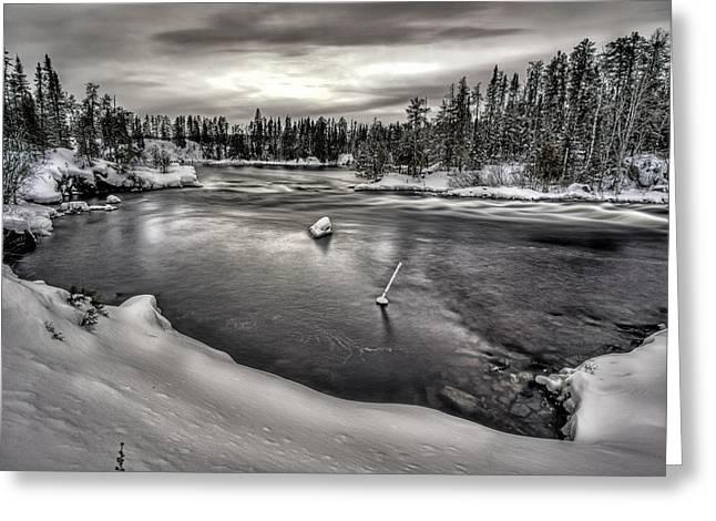 Silver Falls Greeting Card by Jakub Sisak