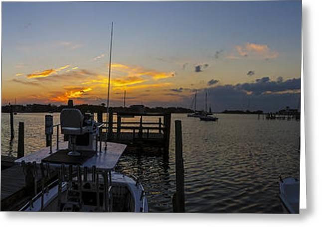 Silver Lake Sunset Panorama Greeting Card