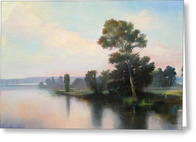 Silver Light Greeting Card by Keith Gunderson