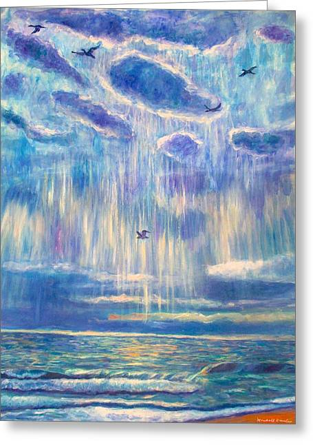 Silver Lining At Pawleys Island Greeting Card by Kendall Kessler