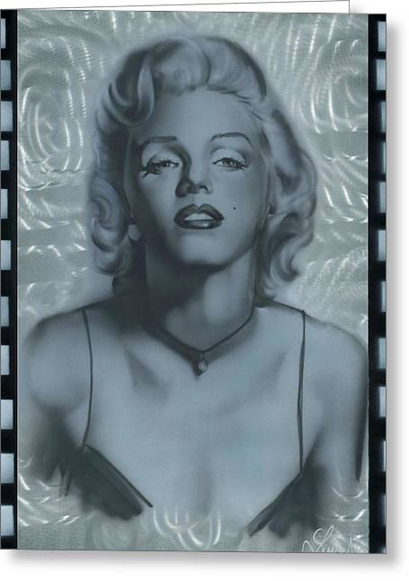 Silver Marylin 2 Greeting Card
