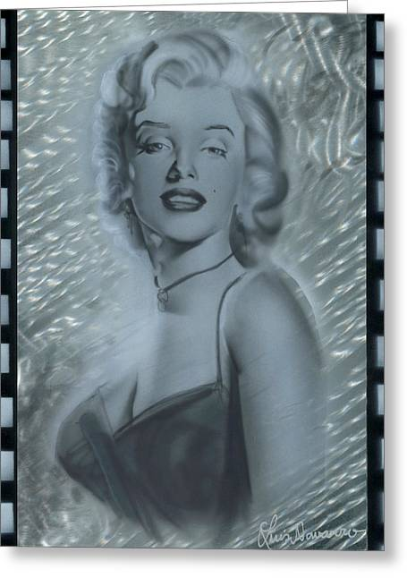 Silver Marylin 3 Greeting Card