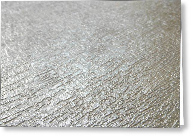 Silver Metal Background 1 Greeting Card by Ian Scholan