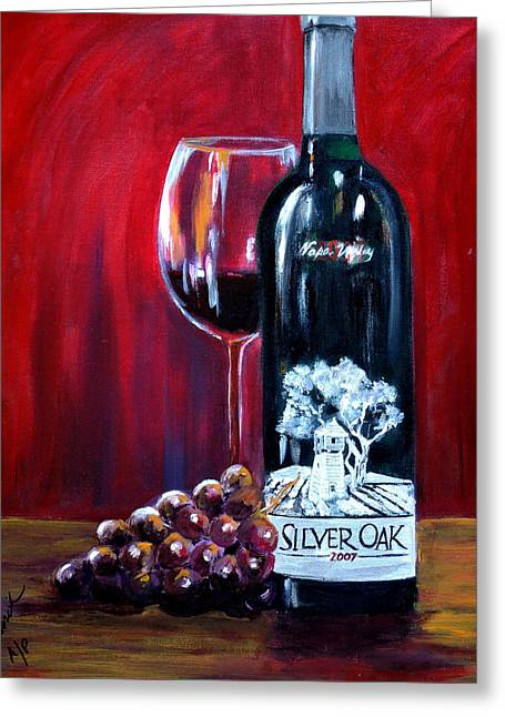 Silver Oak Of Napa Valley And Grape Greeting Card