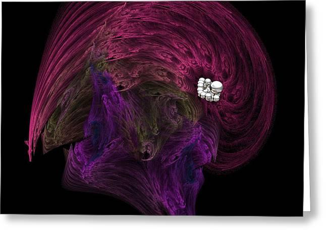 Silver On The Brain Greeting Card by Wayne Bonney