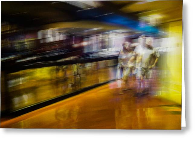 Greeting Card featuring the photograph Silver People In A Golden World by Alex Lapidus