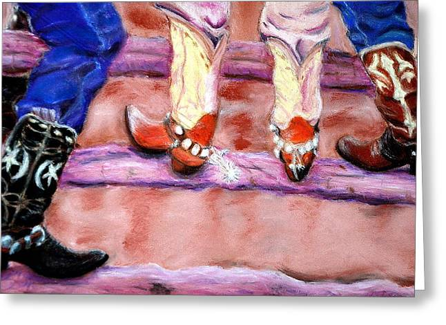 Silver Spurs  Pastel Greeting Card