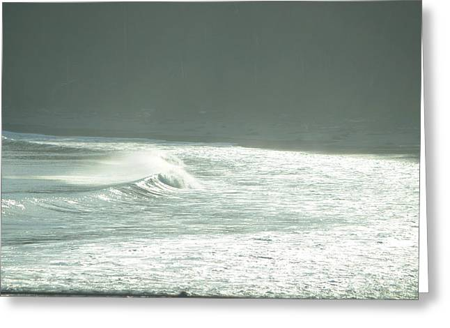 Silver Wave Greeting Card by Deprise Brescia