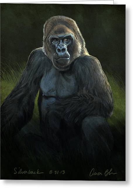 Silverback Greeting Card by Aaron Blaise