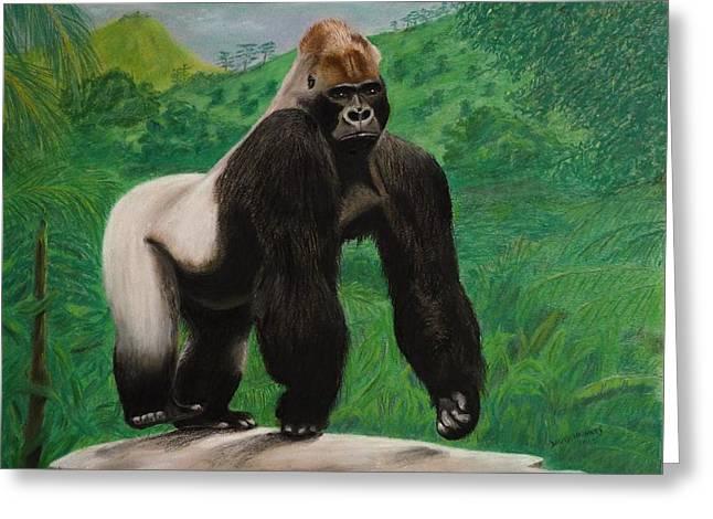 Silverback Gorilla Greeting Card by David Hawkes