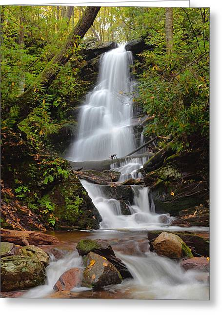 Silverspray Falls In Autumn Greeting Card