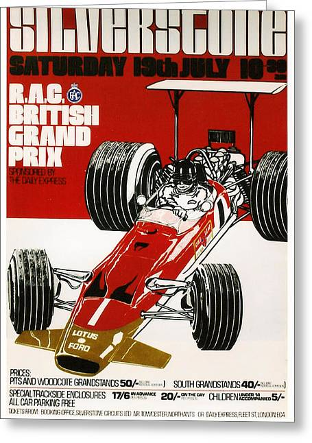 Silverstone Grand Prix 1969 Greeting Card