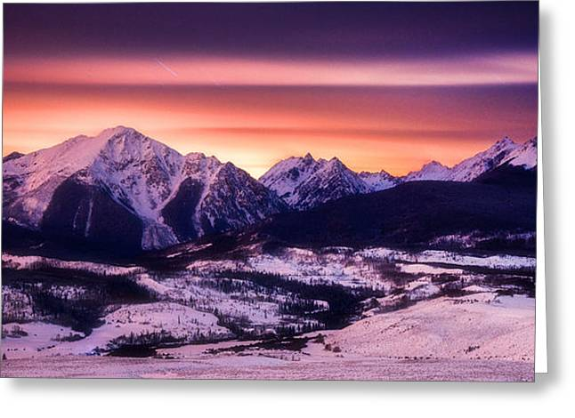 Silverthorne Nights Greeting Card by Darren  White