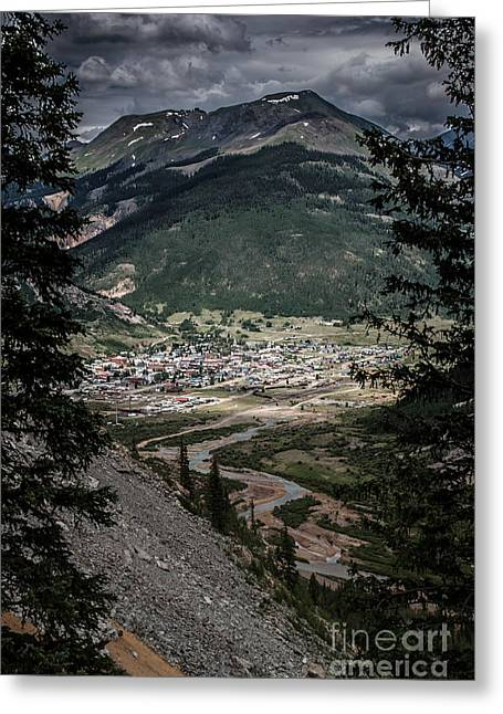 Silverton View From Above Greeting Card