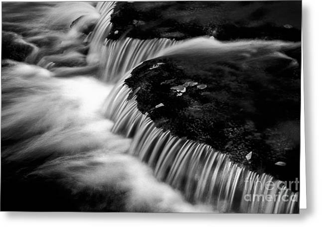 Silvery Falls Greeting Card by Paul W Faust -  Impressions of Light