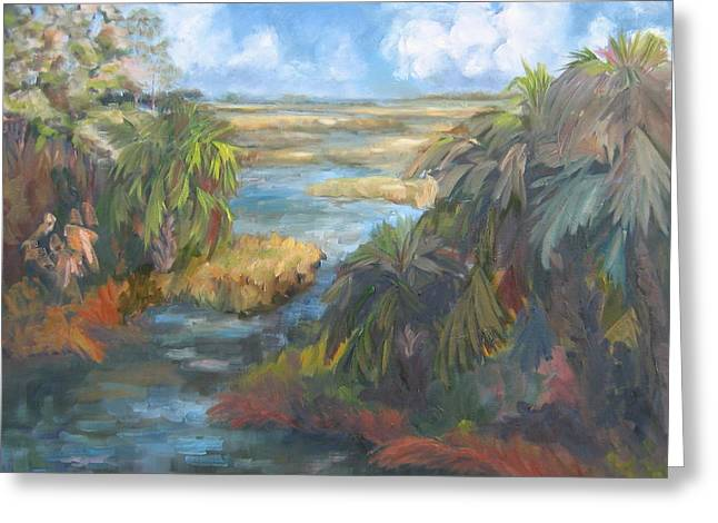 Simmons Bayou Greeting Card by Susan Richardson