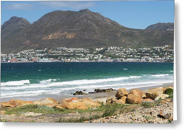 Simons Town Naval Base To Left Seen Greeting Card by Panoramic Images
