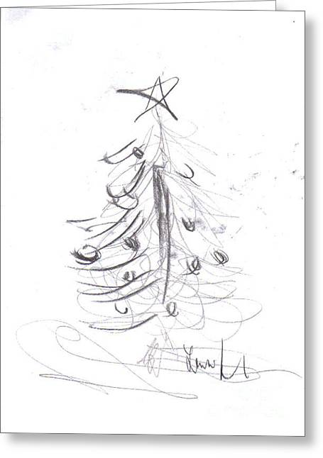 Greeting Card featuring the drawing Simple Love by Laurie Lundquist