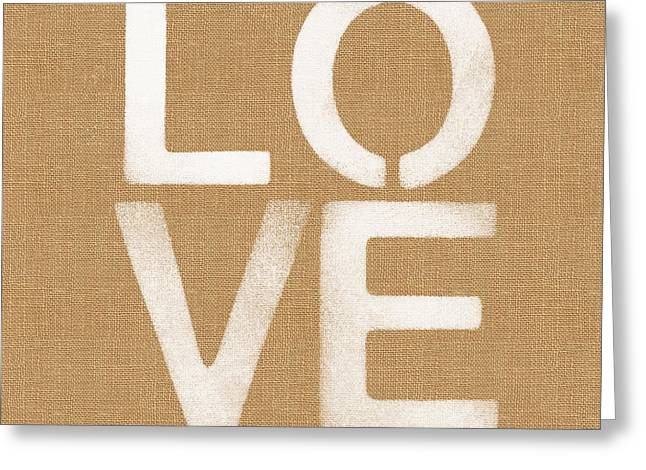 Simple Love Greeting Card by Linda Woods