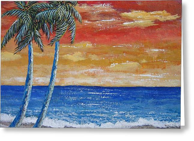 Greeting Card featuring the painting Simple Pleasure by Suzanne Theis