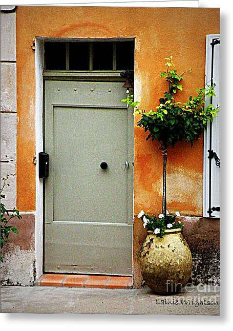 Simple Provence Door Greeting Card