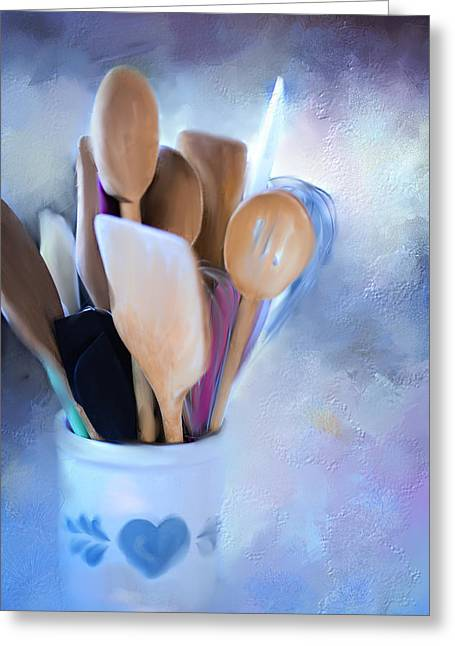 Simple Utensils. Greeting Card by Mary Timman