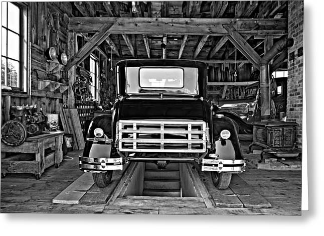 Simpler Times 2 Monochrome Greeting Card