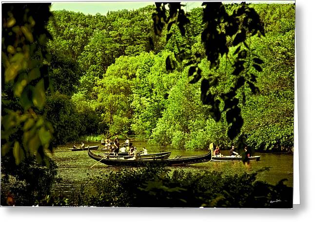 Simpler Times - Central Park - Nyc Greeting Card by Madeline Ellis