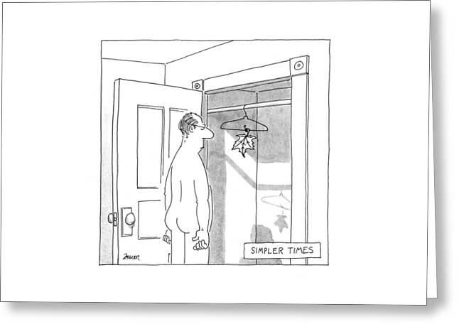 Simpler Times Greeting Card