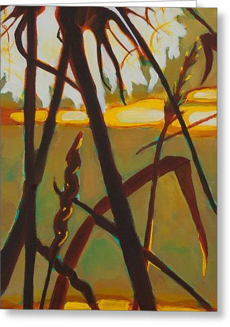 Greeting Card featuring the painting Simplicity Of Light by Janet McDonald