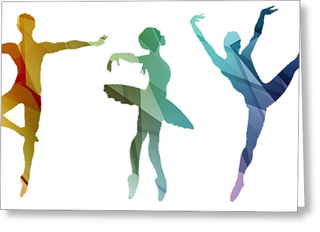 Simply Dancing 3 Greeting Card by Angelina Vick