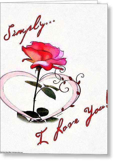 Simply Love... Greeting Card