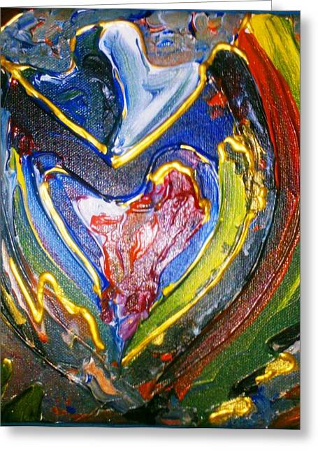 Greeting Card featuring the painting Simply Love by Ray Khalife