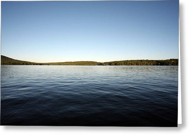 Simply Water And Sky Greeting Card