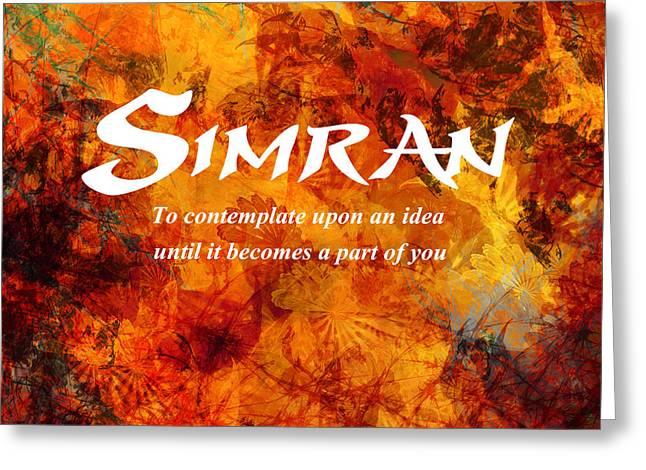 Simran Greeting Card