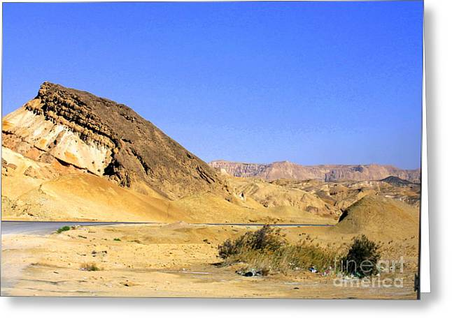 Sinai Desert  Greeting Card by Jason Sentuf