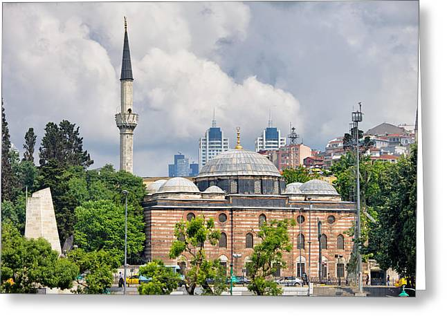 Sinan Pasha Mosque In Istanbul Greeting Card by Artur Bogacki
