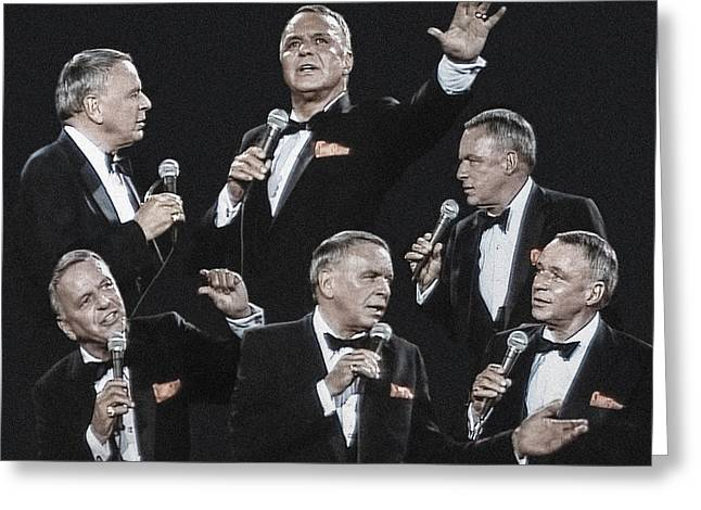 Sinatra In Concert Greeting Card