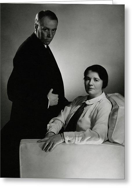 Sinclair Lewis And Dorothy Lewis Greeting Card by Edward Steichen