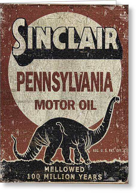 Sinclair Motor Oil Can Greeting Card
