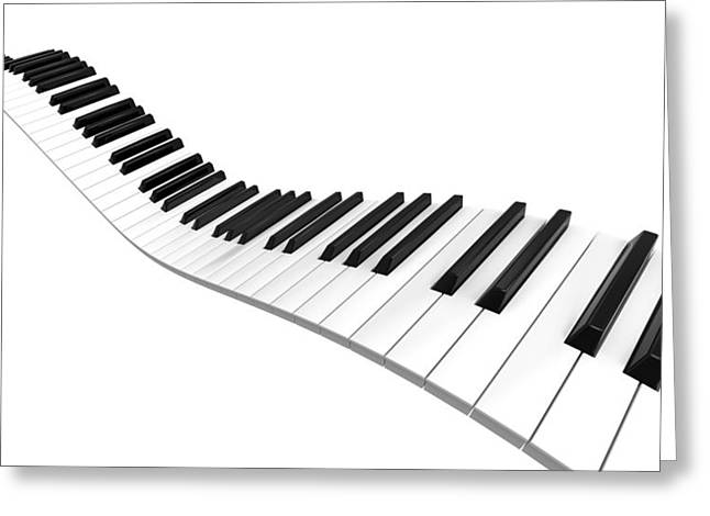 Sine Curve Piano Greeting Card by Bruno Haver