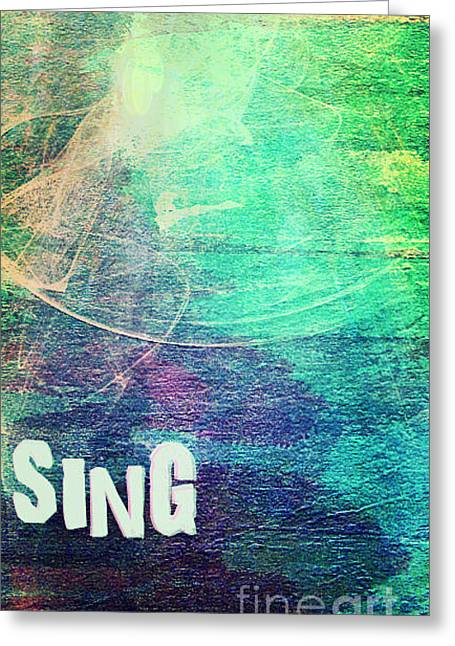 Sing Greeting Card by Currie Silver