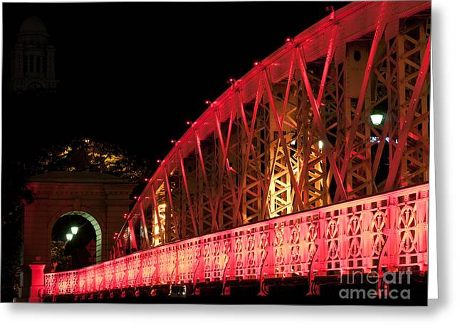 Singapore Anderson Bridge At Night Greeting Card