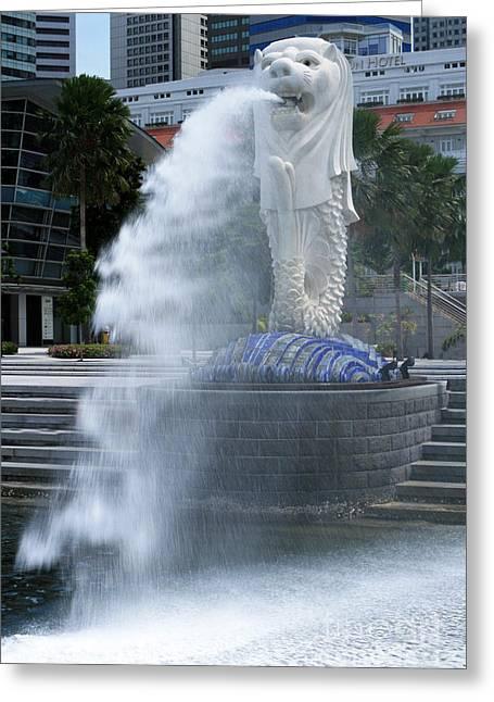 Singapore Merlion Greeting Card