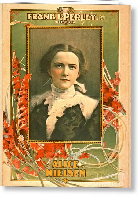 Singer Alice Nielsen 1899 Greeting Card by Padre Art